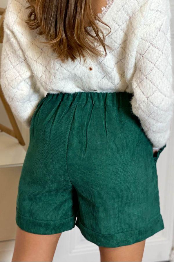 Short Veloura Vert