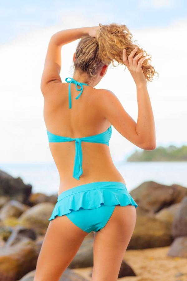 Maillot de bain Emmatika Bandeau Solid Cianico Aimo Turquoise