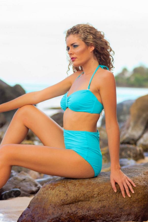 Maillot de bain Emmatika Balconnet Solid Cianico Devo Turquoise