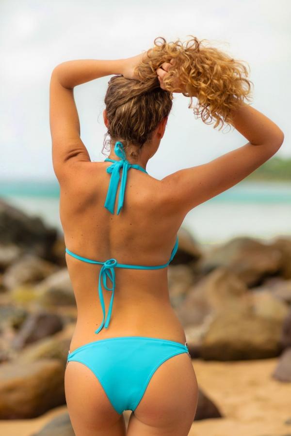 Maillot de bain Emmatika Triangle Solid Cianico Zago Turquoise