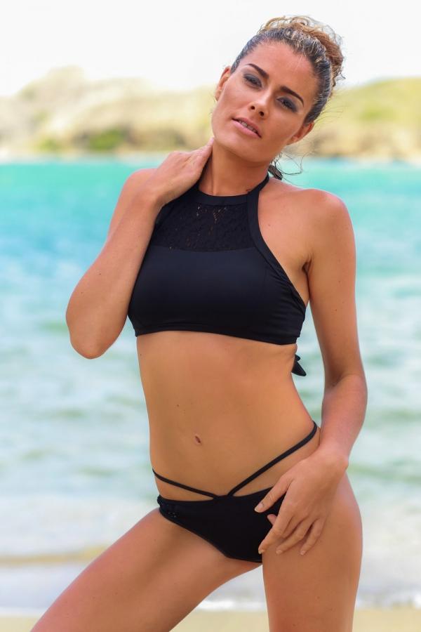 Maillot de bain Emmatika Culotte Brésilienne Divine Black Tima Noir