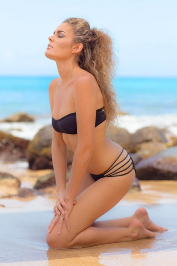 Maillot de bain Emmatika Culotte Brésilienne Flashblack Lopa Noir