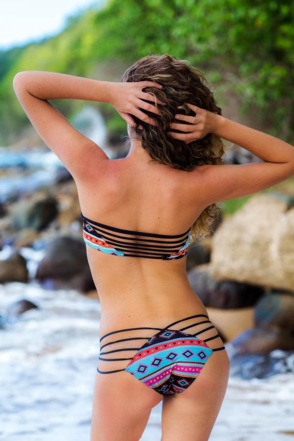 Maillot de bain Emmatika Culotte Brésilienne Kickapoo Lopa Multicolore