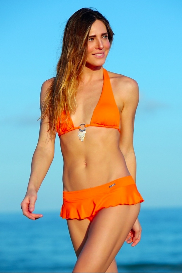 Maillot de bain Emmatika Triangle Solid Naranja Zago Orange