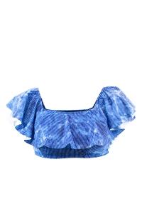 Maillot de bain Brassière Emmatika Denim Volant Bleu