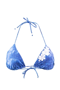 Maillot de bain Triangle Emmatika Denim Tri Bleu